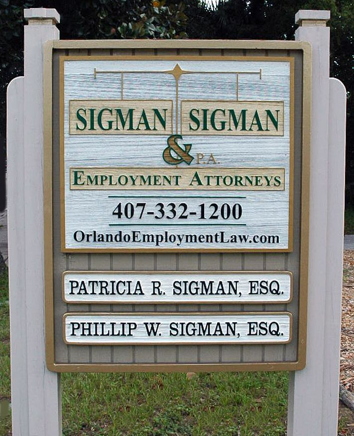 sigman law office sign