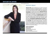 Patricia Sigman is on the Woodward/White Best Lawyers list for 2012.  Orlando Magazine published this list in the April  2012 issue